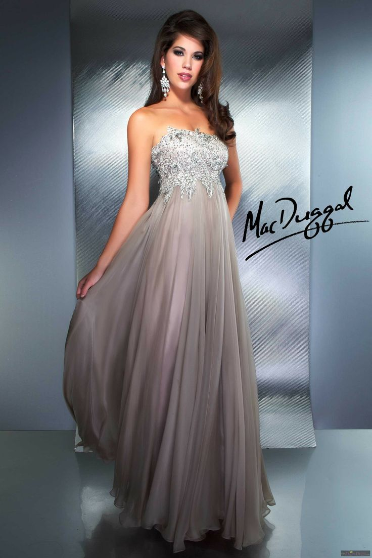 Black tie event dresses - Mac Duggal Style 55005d Patinum Strapless Couture Gown With Fully Embellished Bust Imagine How