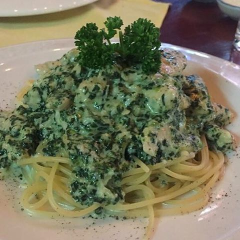 new at da vinci ristorante spaghetti with a great sauce based in gorgonzola