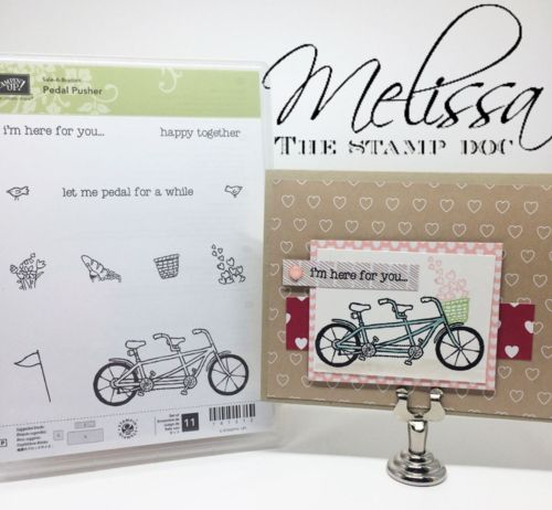 Stampin' UP! Pedal Pusher Stamp Set Sale-a-Bration 2016 by Melissa Stout