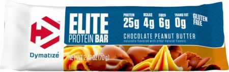 Dymatize Elite Protein Bar Chocolate Peanut Butter 1 - 70g Bar DYM4380021 Chocolate Peanut Butter - 4G Or More Of Bcaas Proven To Help Build Muscle And Aid Recovery*