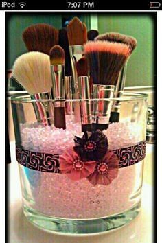 Avon Candle jars make great storage containers! To remove unusable wax fill jar…