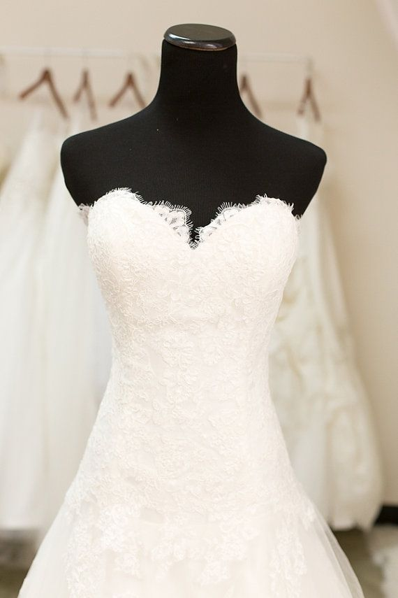 Trendy SAMPLE SALE Lace Wedding Dress Mermaid by TheLittleWhiteDress