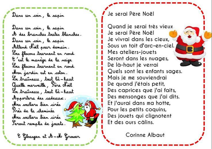 Ma sélection de poésies pour Noël - L'école de Crevette