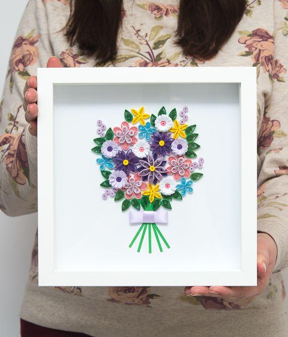 Polskie Rekodzielo Recznie Robione Papierowe Kwiaty Dekoracja Na Sciane Frame Decor Paper
