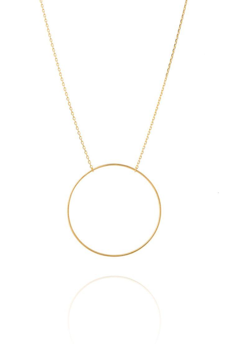 Maria Black Halskette Monocle Gold. www.styleserver.de