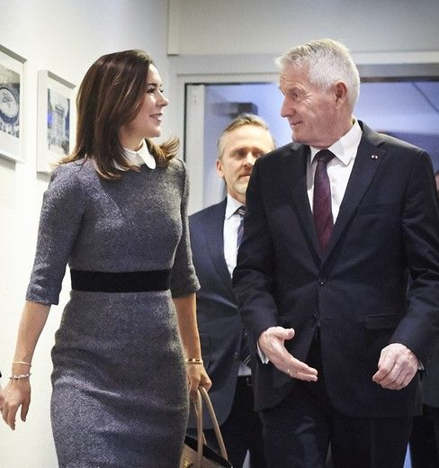 23 January 2018 - Princess Mary attends the Parliamentary Assembly of the Council of Europe in Strasbourg - dress by Prada