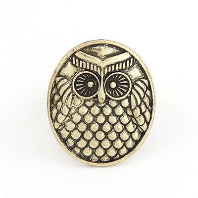 Platinum Bronze Owl Alloy Korean Rings Bronze. Fashionable with passion REPIN if you like it.😊 Only 10.5 IDR
