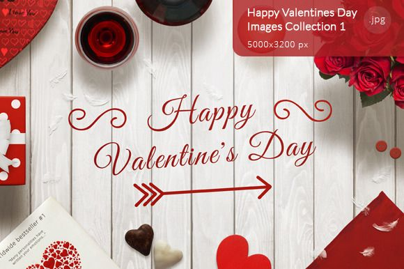 Happy Valentines Day Images 1 by RSplaneta on Creative Market