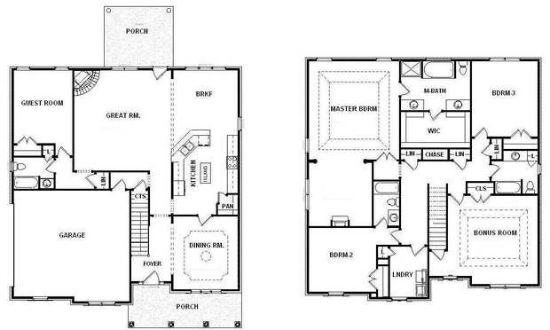 1000 images about bill beazley floor plans on for One story house plans with bonus room