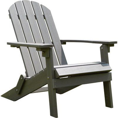 Stonegate Designs Folding Resin Adirondack Chair — Gray, Model# 31396-D