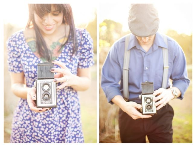 1940s engagement shoot