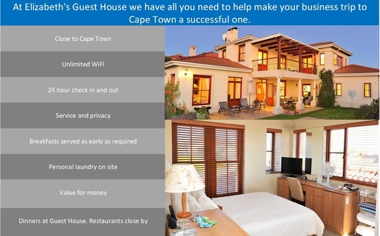 Elizabeth's Guest House has all you need for your next business trip to Cape Town