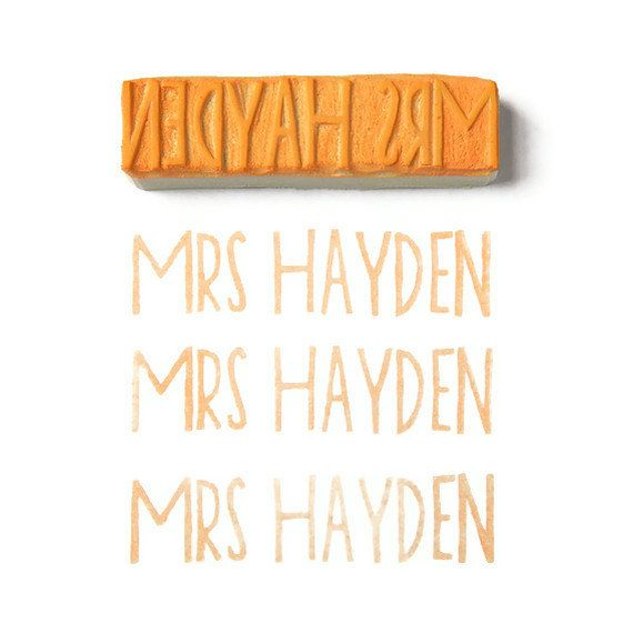 I really want this! Custom Teacher Name Rubber Stamp - Rubber Stamp - Cling Rubber Stamp