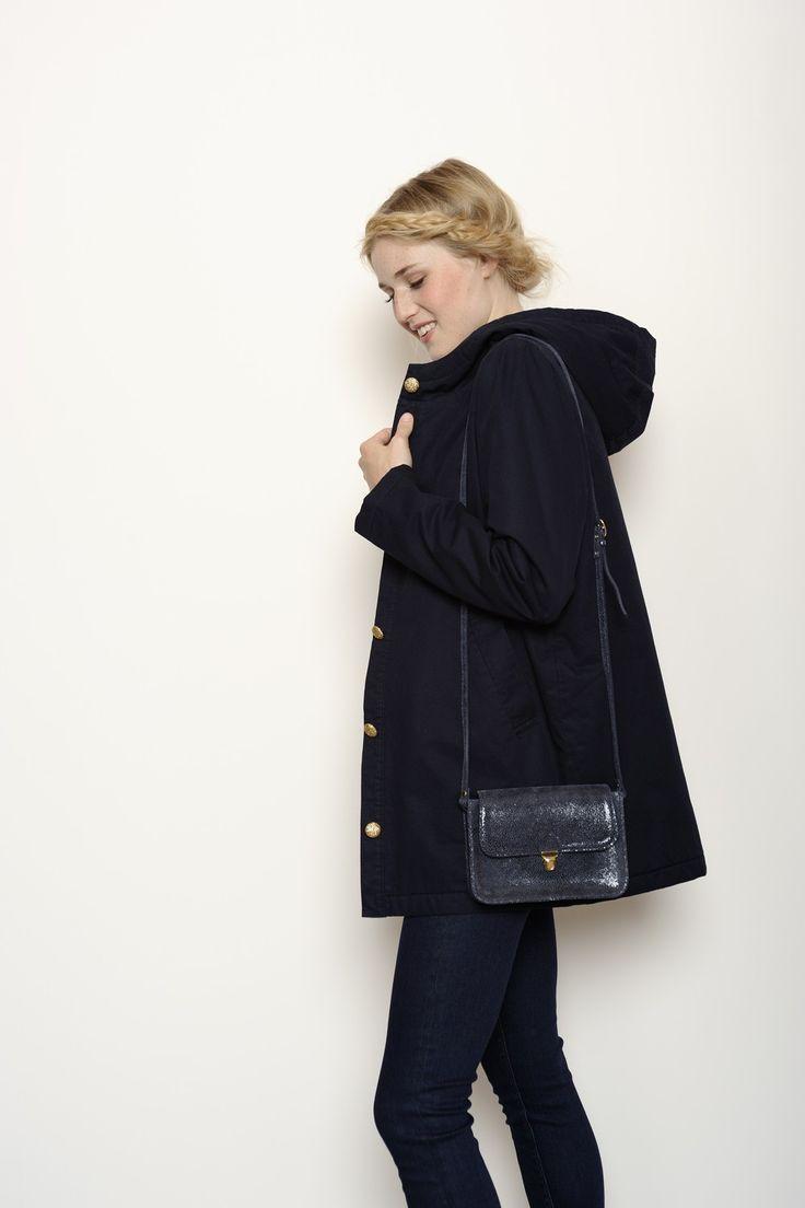 parka xilie marine 100 coton manteau femme des petits hauts couture pinterest parkas. Black Bedroom Furniture Sets. Home Design Ideas