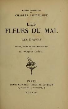 Baudelaire - Les Fleurs du mal, Conard, 1922.djvu