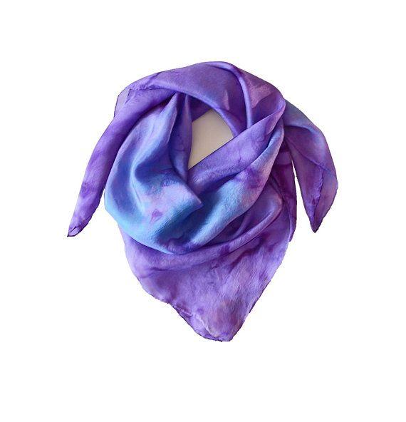 Women Soft Silk Square Scarf Wrist Plain Neckerchief Head Neck Party Headband NS