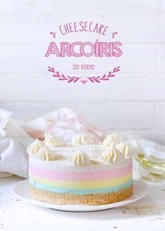 Cheesecake Arcoíris Sin Horno y ¡Giveaway!