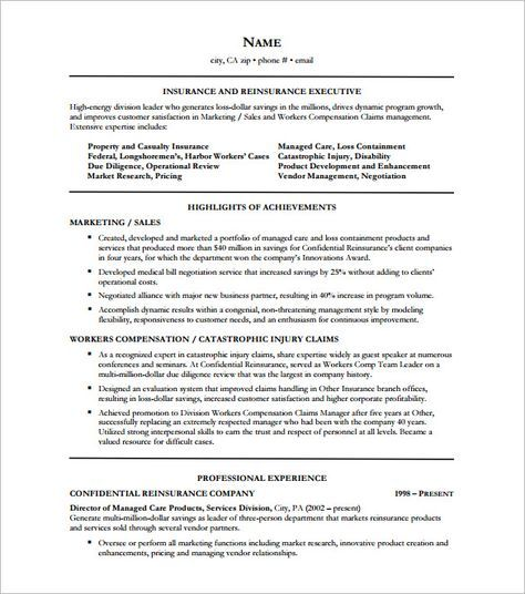 Insurance Executive Resume Free , Executive Resume Template And What You  Should Include , The Executive Resume Template Can Serve As A Guide For You  When ...  Executive Resume Templates Word