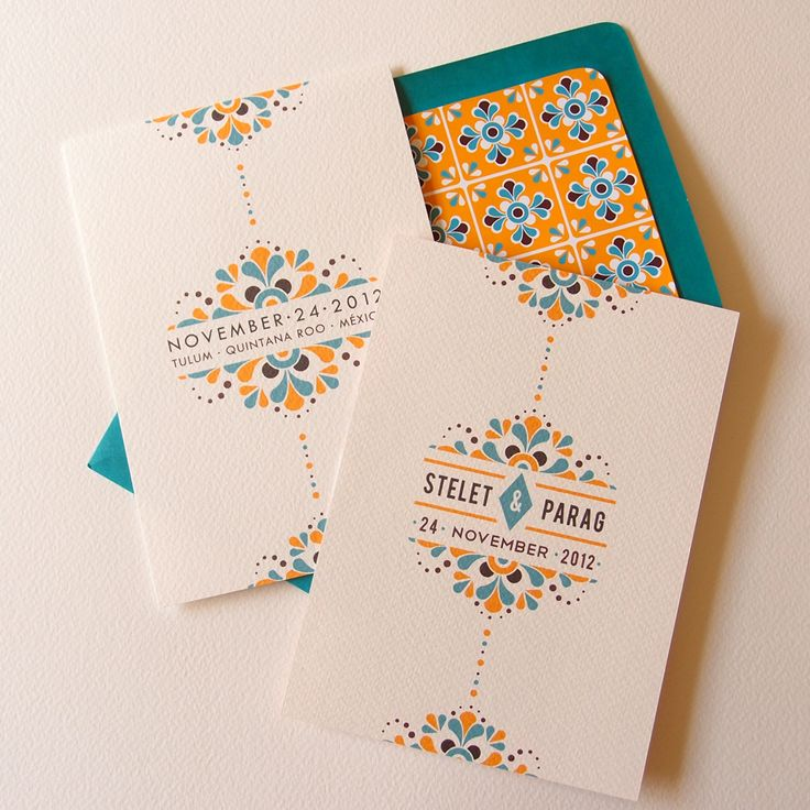 Riviera Maya Mexican-inspired Wedding Invitation Suite