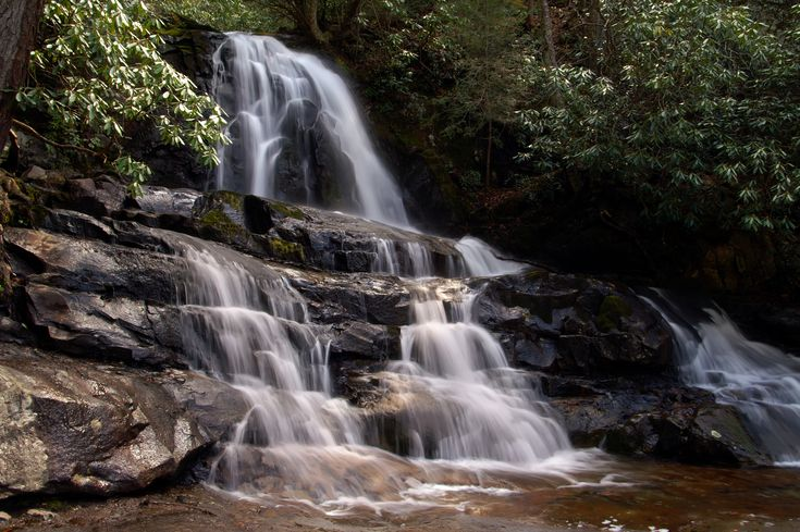 Laurel Falls in Smoky Mountains - Click here to learn about more waterfalls in the Great Smoky Mountains http://www.visitmysmokies.com/blog/smoky-mountains/waterfalls-in-the-great-smoky-mountains/