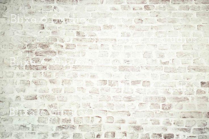 Whitewashed Brick Wall Backgrounds by Blixa 6 Studios on Creative Market