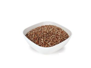 Ojio Raw Organic Tri-colour Quinoa: Because of the broad spectrum of amino acids present in Quinoa, it comes very close to matching the standards set by the FAO for optimum human nutritional needs. While Quinoa is often used as a substitute for grains, it is in fact a seed making it gluten-free.