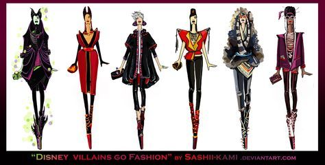 Disney villains go fashion II by Sashiiko-Anti.deviantart.com on @deviantART
