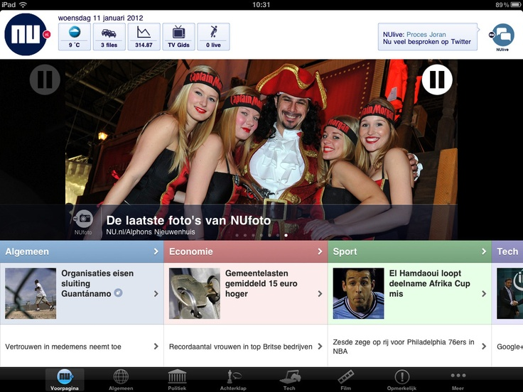 App version of Dutch newssite