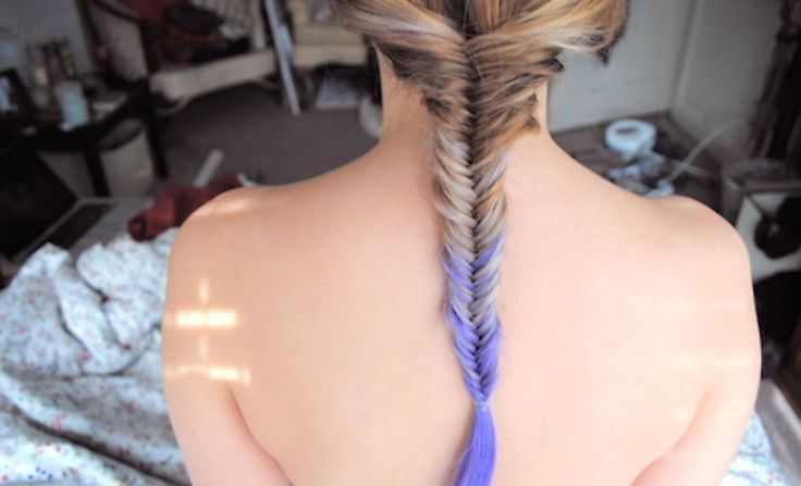 ombre braid!: Dips Dyes Hair, Fish Tail, Purple Hair, Pdi, Haircolor, Ombre Hair, Fishtail Braids, Hair Color, Dips Dyed Hair