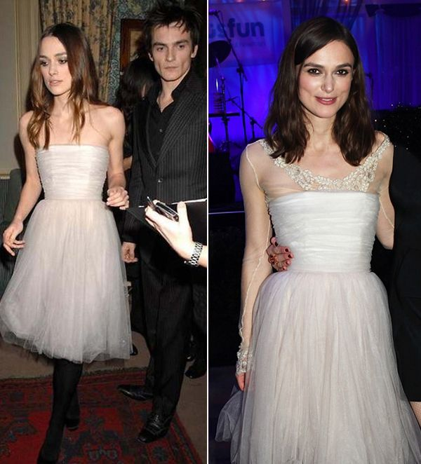 Keira Knightley's Wedding Dress with Detachable Long Sleeves.