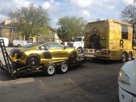 Tyga's gold R8.