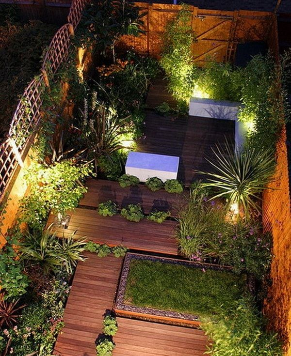 Ideas para patios peque os decoraci n de jardines for Pequeno cobertizo de jardin de madera