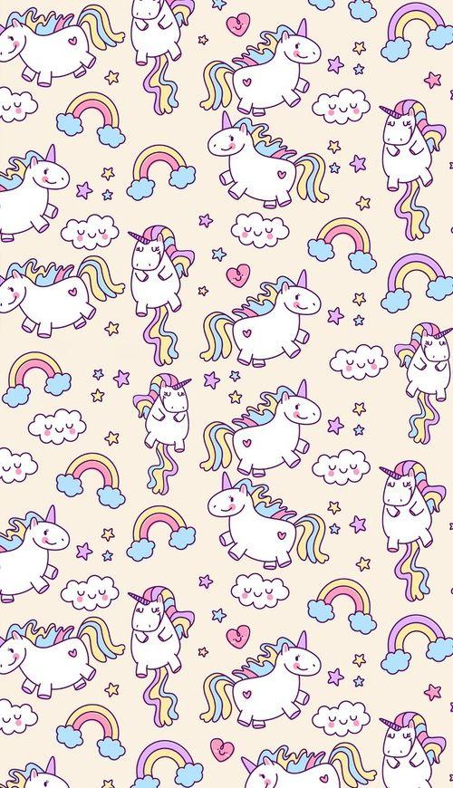 unicorn, rainbow, and wallpaper image