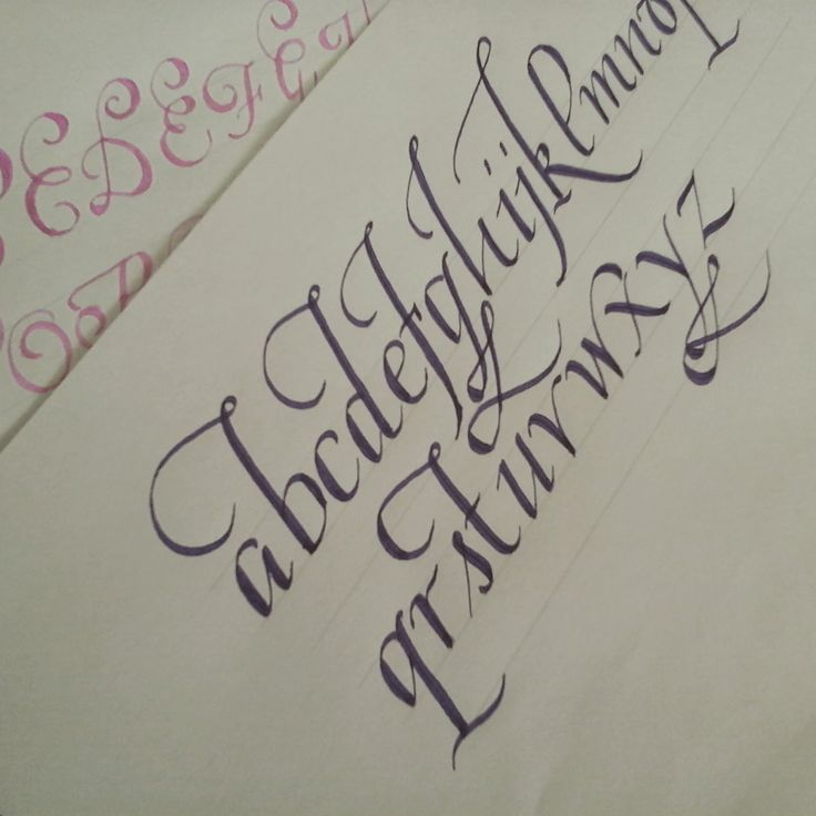 How to write calligraphy letters easy version for