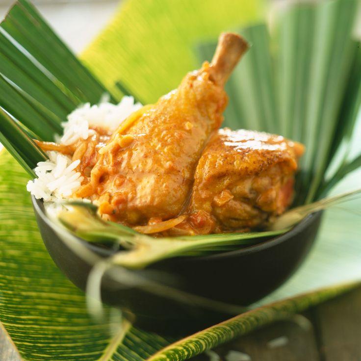 Poulet antillais à la noix de coco (cuisine actuelle)