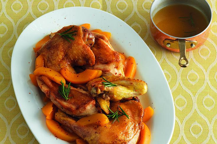 Pollo alla Maxim's in salsa alle pesche