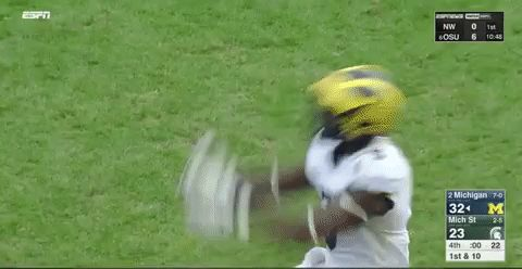 football celebration college football backflip ncaa ncaa football michigan football michigan wolverines peppers back flip jabrill peppers jabrill trending #GIF on #Giphy via #IFTTT http://gph.is/2f67GOI