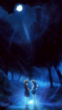 Dzieci w blasku księżyca