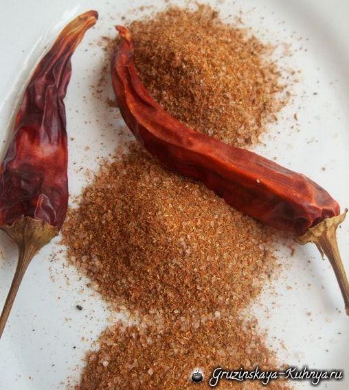 Как приготовить абхазскую смесь специй
