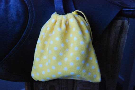 Equine Stirrup Covers - yellow polka dot (protect your irons)  *set of two