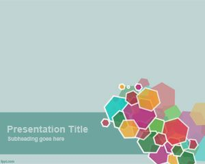 Appealing Hexagon PowerPoint Template is a free clean and fresh PowerPoint template with colorful hexagons in the slide design