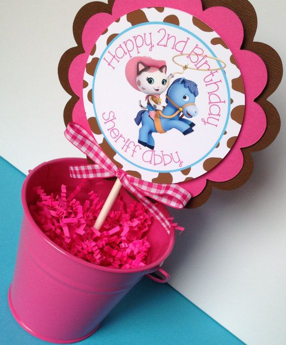 Sheriff Callie Birthday Party Cake Topper by sweetheartpartyshop