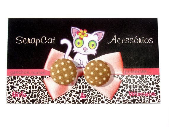 Very Chic Fabric Button Earrings Collection // Sweet by ScrapCati, €5.95
