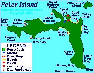 Map of Peter Island  BVI Trip  Pinterest  Virgin islands