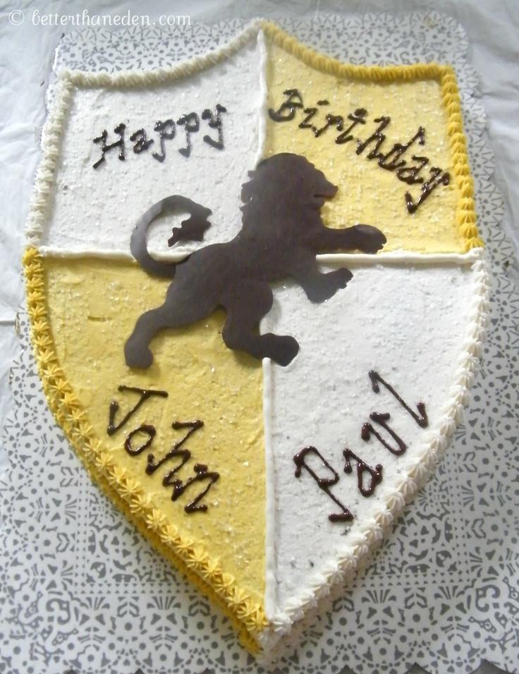 Better Than Eden: Narnia Shield Cake