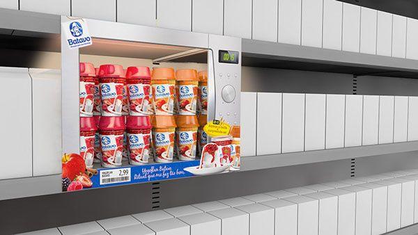 Appliance-Inspired Merchandising : Yogurt Shelf Display