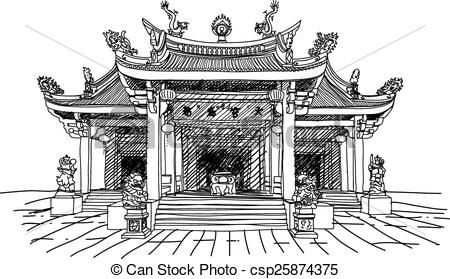 coloring pages ancient chinese houses - photo#29
