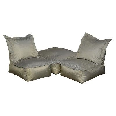 Ace Bayou Outdoor Bean Bag Lounger - Gray, Gray/Green