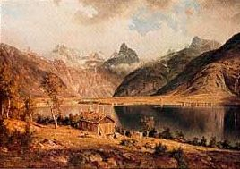 From the Fortun Valley in Sogn  Artist J.C.Dahl