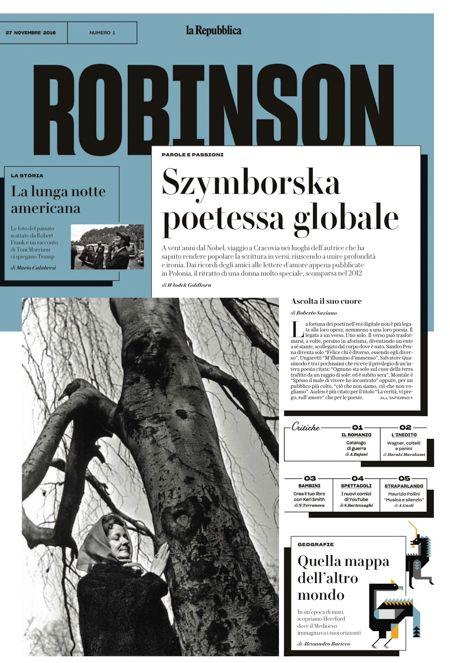 """Com'è """"Robinson"""", il nuovo inserto domenicale di Repubblica - Il Post"""
